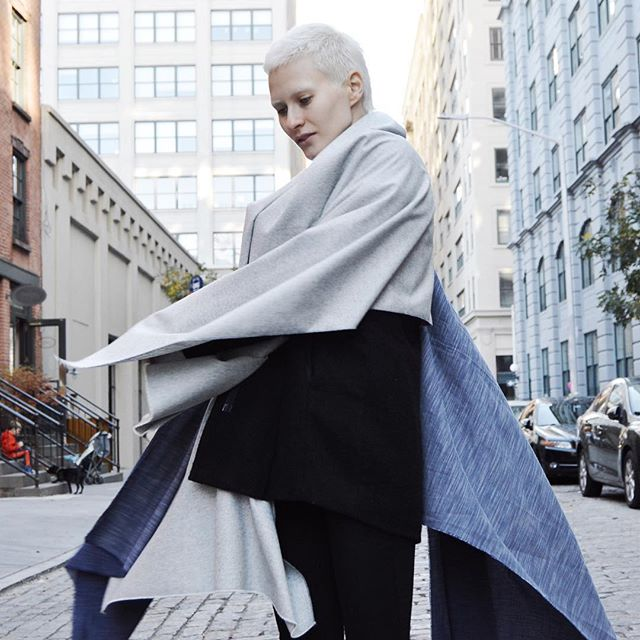 multiple scarves = layered luxe look