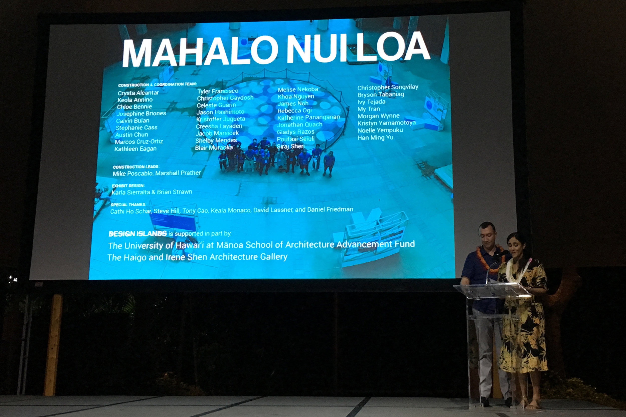 'Design Islands' presentation at the AIA Honolulu Design Awards Gala 2017.