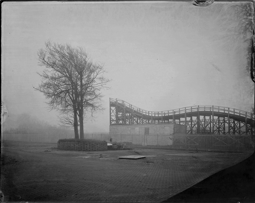 Scenic Railway, Dreamland. Unique tintype +  edition of 5 silver gelatin print available from TPG