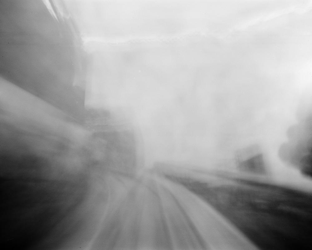 "90 seconds on The Scenic Railway, 5x4"" pinhole photograph."