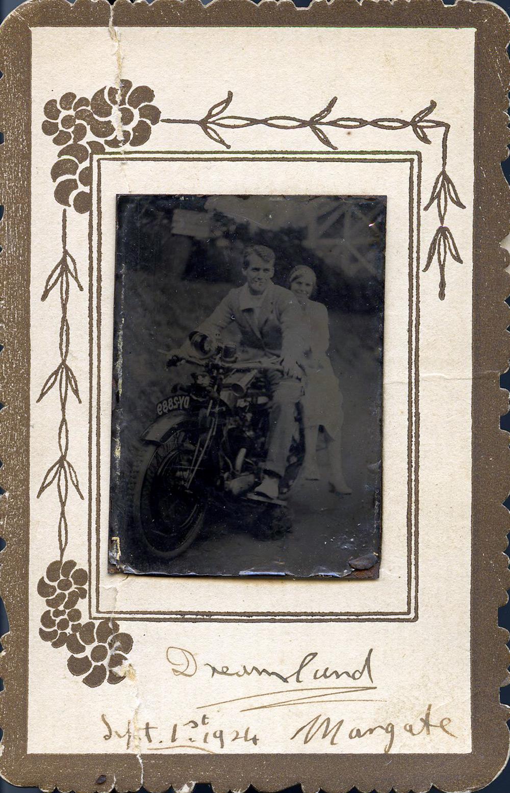 Original Tintype, Dreamland Margate, Sept 1st, 1924