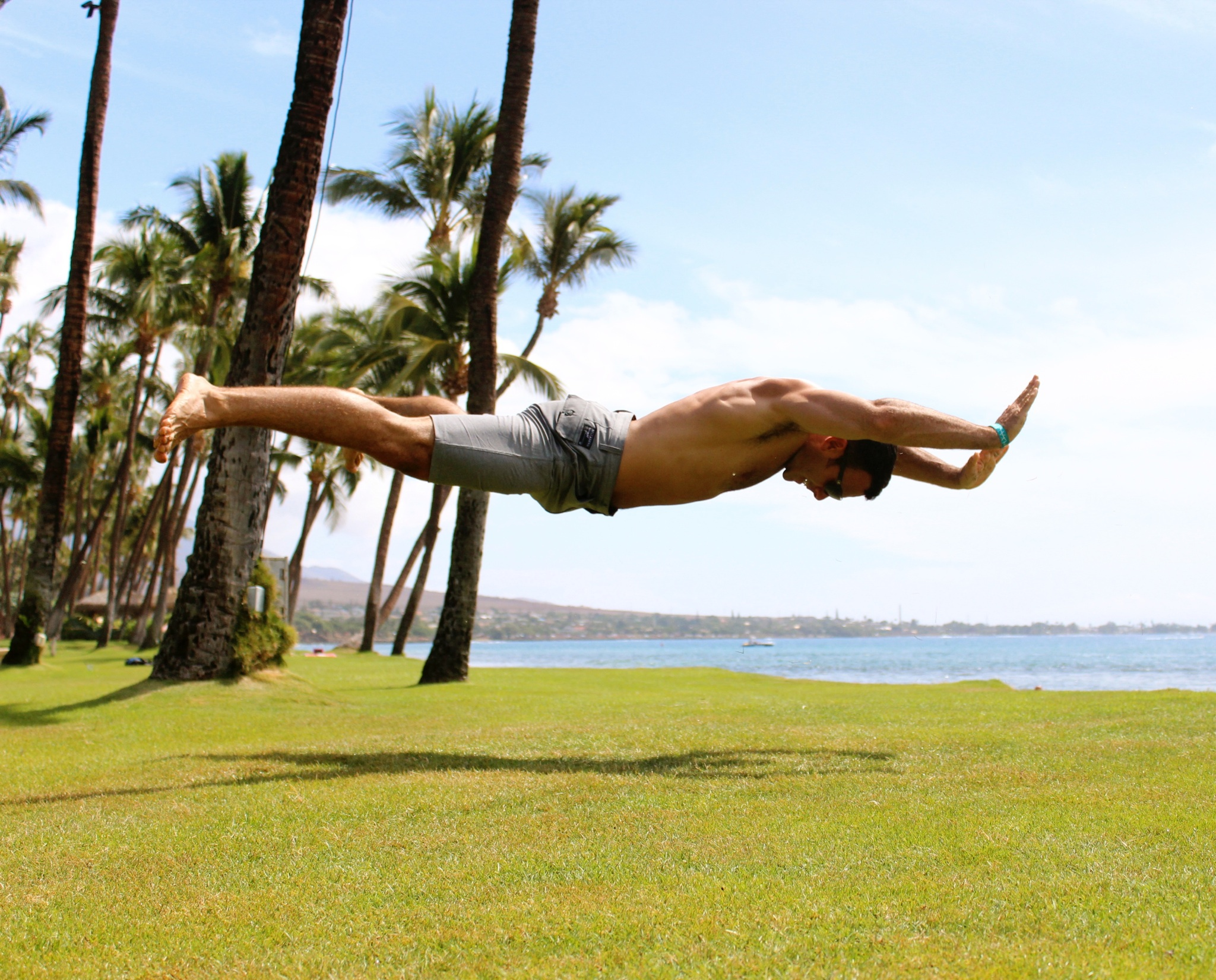 DIAKADI Owner and Trainer  Mike Clausen and his signature Superman push-up.