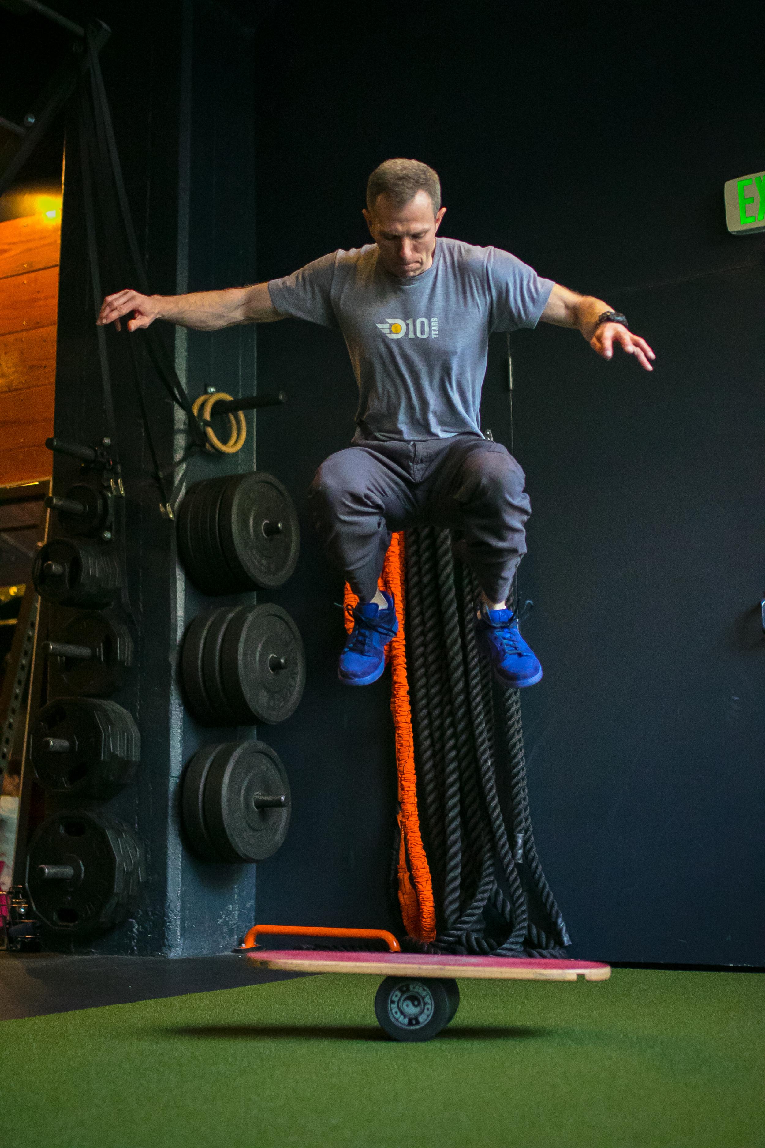 DIAKADI Trainer  Sean O'Brien , master of acrobatics and previous American Ninja Warrior competitor.