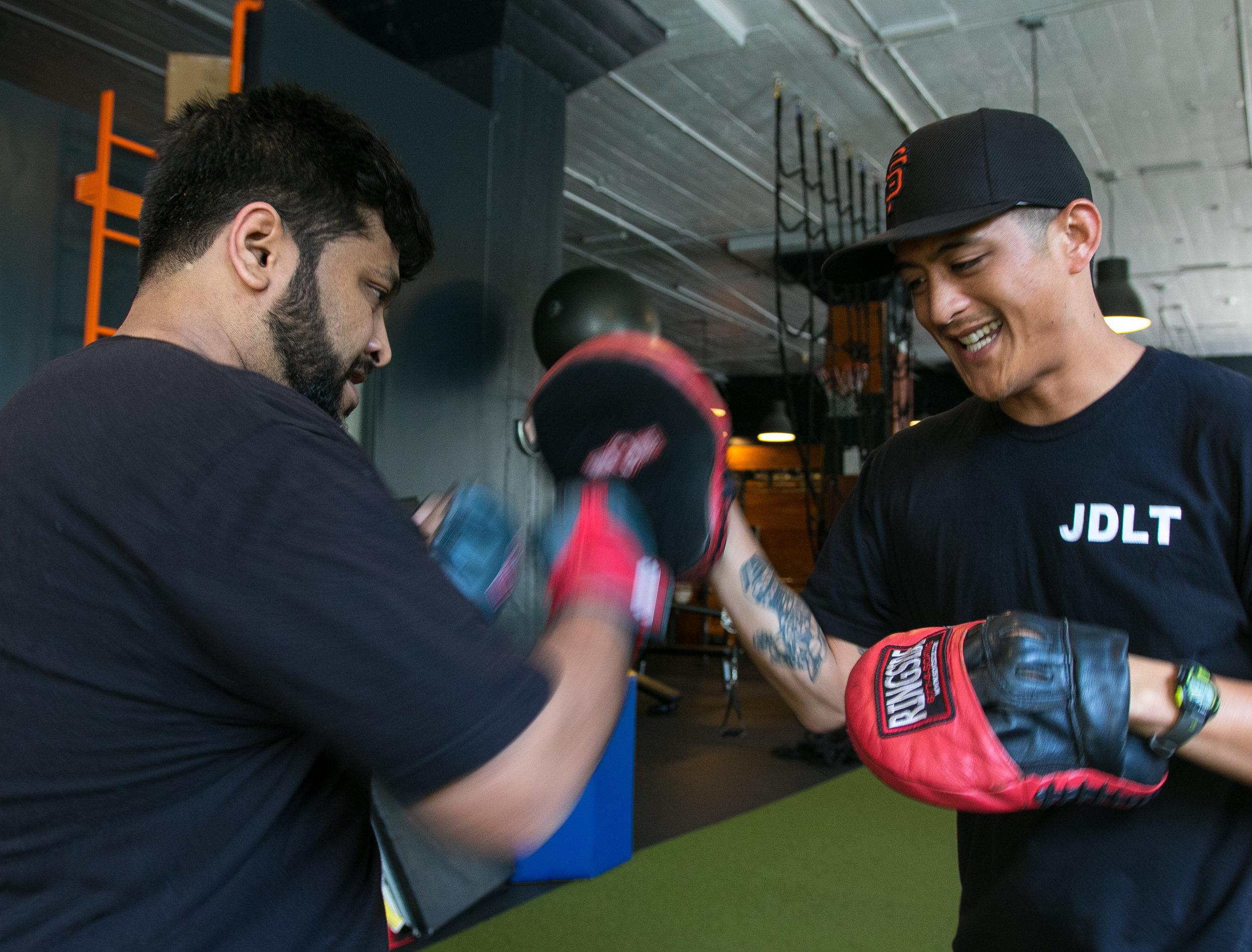 JDLT trainer client boxing