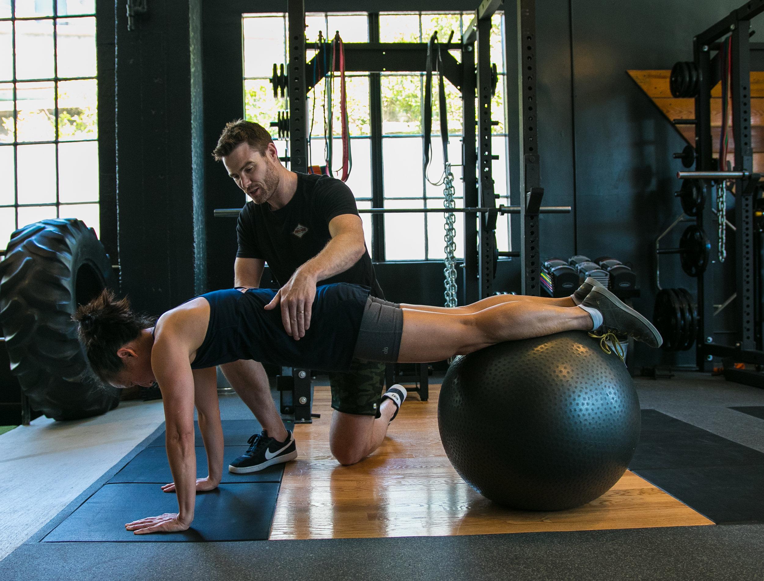 Gavin Birmingham plank core stability ball.jpg