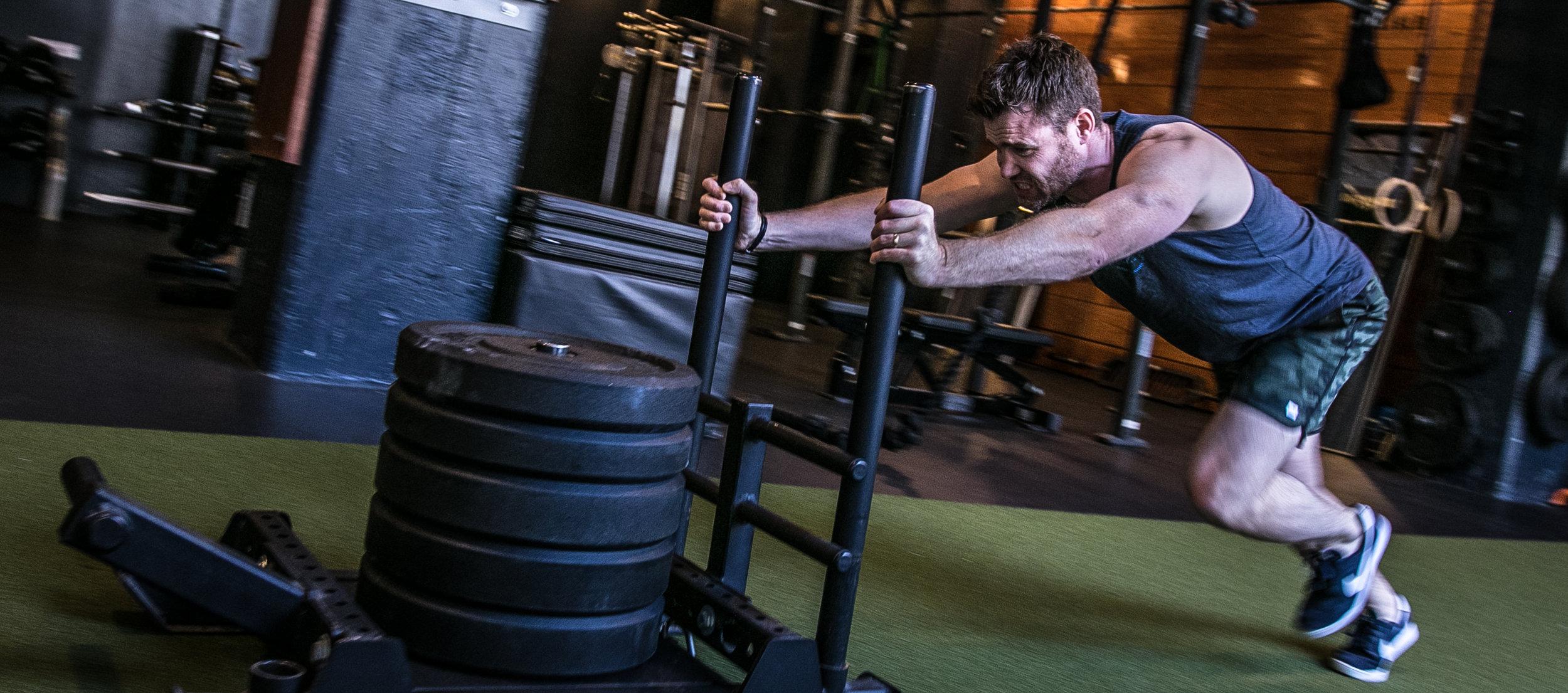 Gavin Birmingham sled push speed agility strength SAQ Sports Performace Specialist.jpg