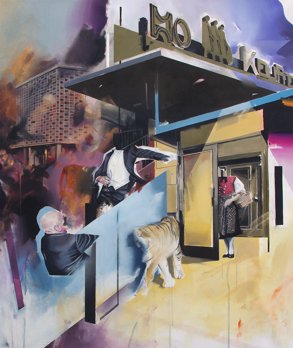 Christoph Rode, In the assumption of a serious action, Oil on Canvas (120cm x 100cm) Berlin 2019.jpg