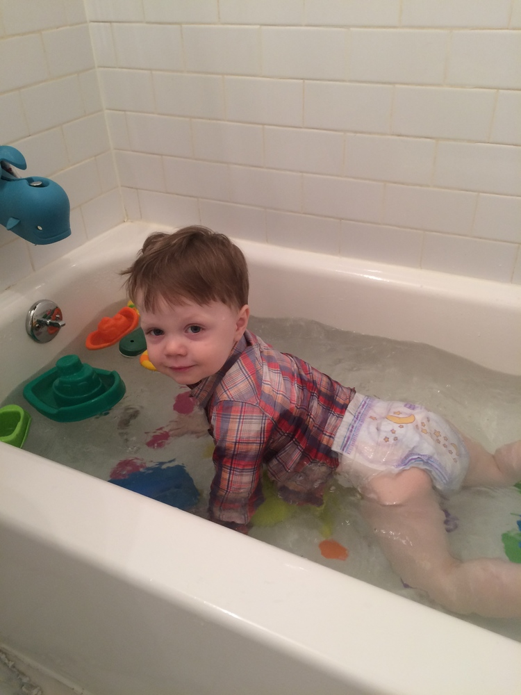 This is bath time in our house