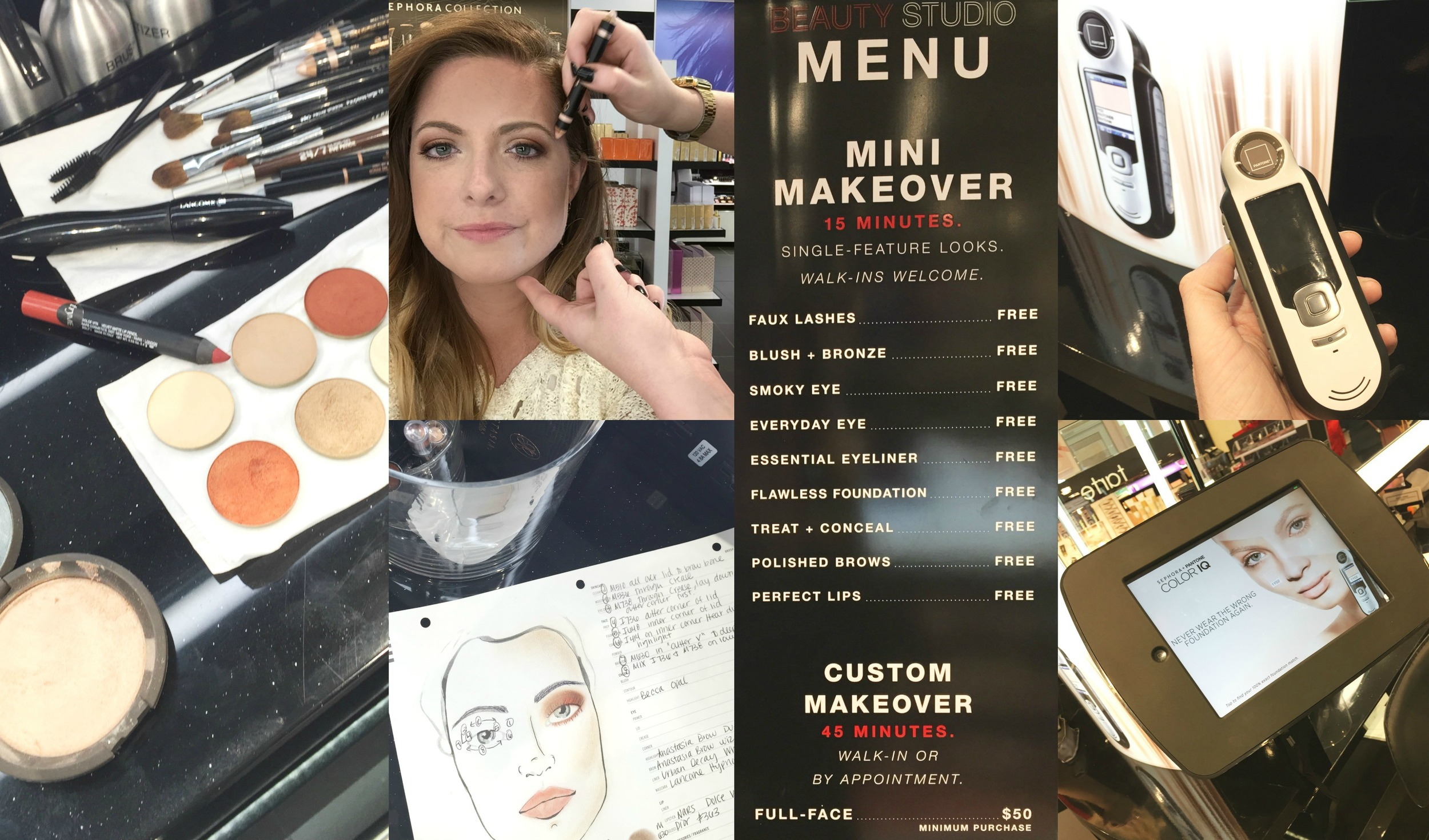 Here are links to all achieve my make up look:  1)    M510    all over lid to brow bone 2)    M536    through crease 3)    M738    through crease, lay down at outer corner first 4)    I736    Outer corner of lid 5)    1648    inner corner of lid 6)    I414    on inner corner/ tear duct to highlight 7)    M630    in outer v to deeper look 8) Mix    I736    &    M738    on lower lash line.    Becca OpalHighlighter    for cheeks,    Anastasia Brow Duality in Camile/Sand    for eye highlight (pictured above),    Anastasia Brow wiz in Soft Brown    for defining my brows,    Urban Decay Whiskey 27/7 pencil    for eye liner,    Lancome Hypnose Drama    for mascara,    Nars Dolce Vita Velvet Matte Pencil    for color,    Dior #363    for pinkier gloss.