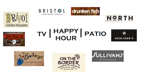 All these wonderful places to eat and drink offer great happy hour specials, tv's to watch the games, and patios to simply enjoy our wonderful weather. So much fun!