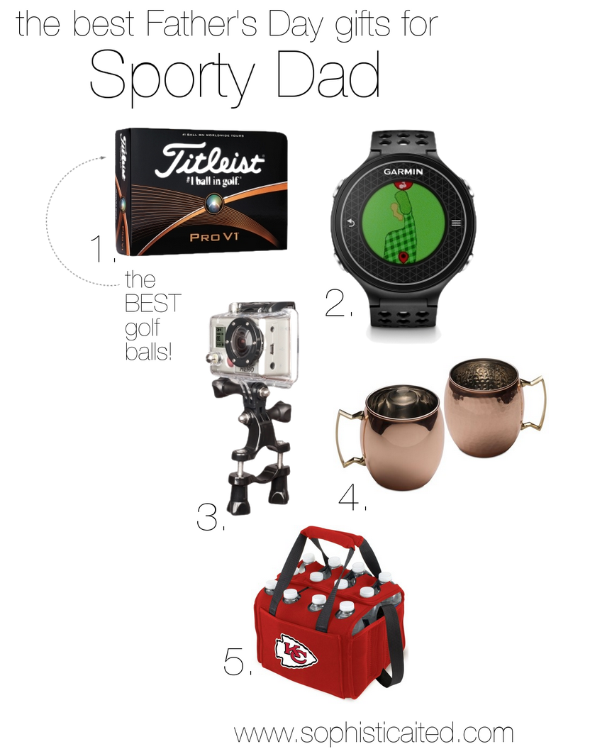Sporty Dad gifts for Father's Day on Sophisticaited.com