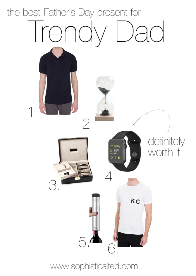 Trendy Dad presents for Father's Day on Sophisticaited.com