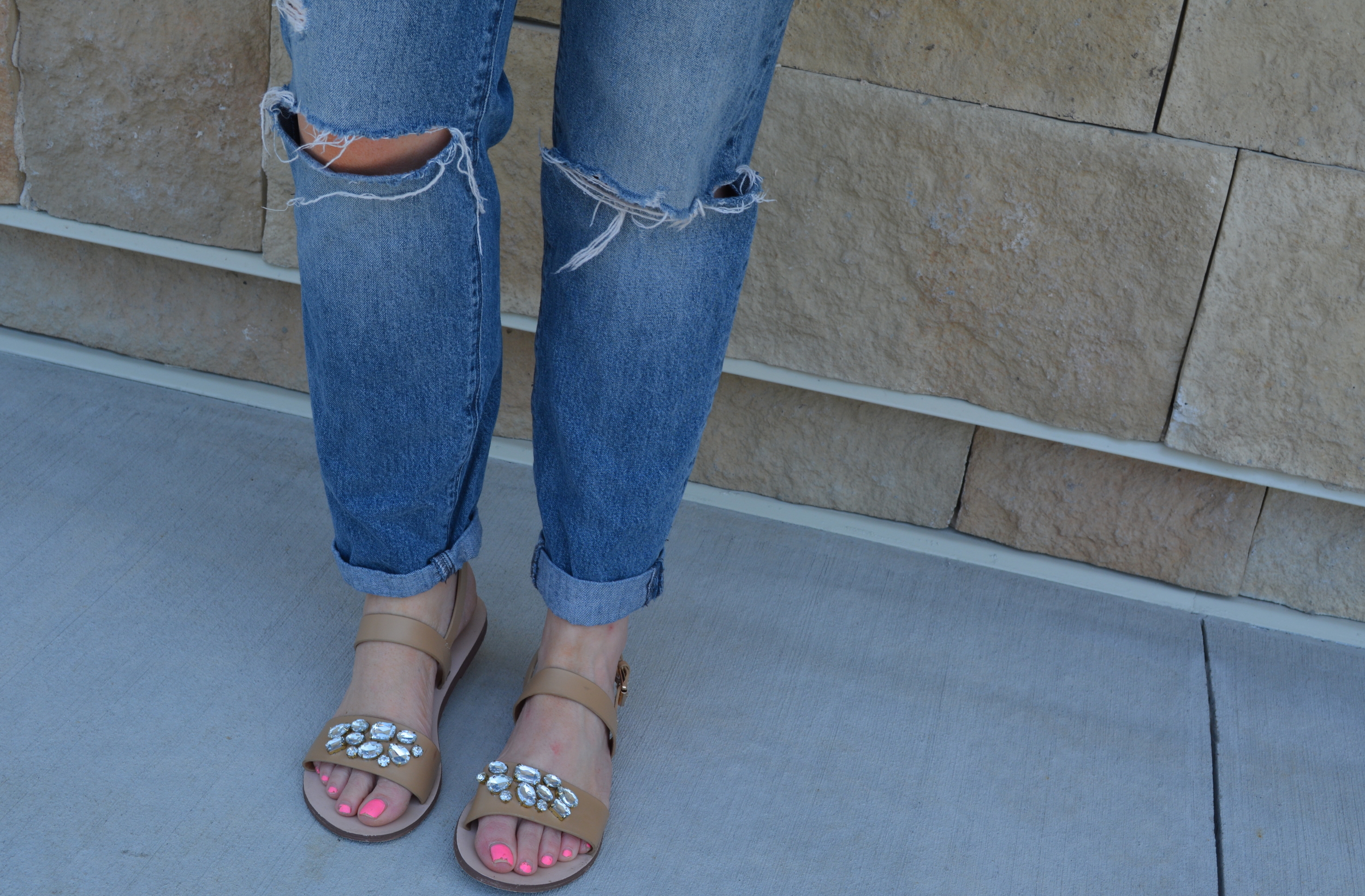 Just Fab glitter sandals on Sophisticaited.com