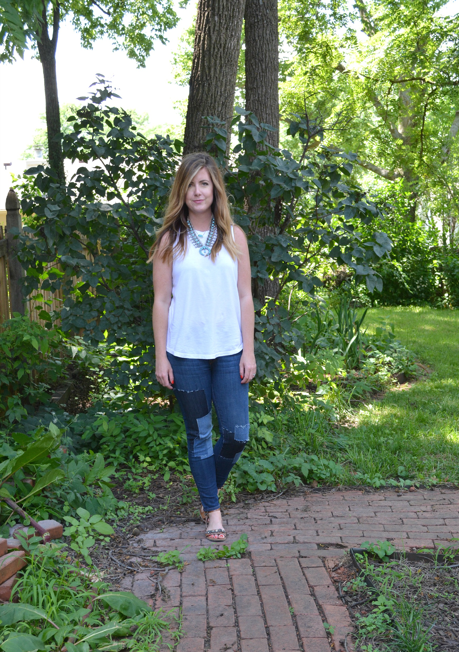 Muscle tank and Baldwin jeans on Sophisticaited
