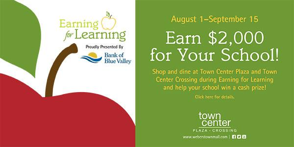 Earning for Learning at Town Center
