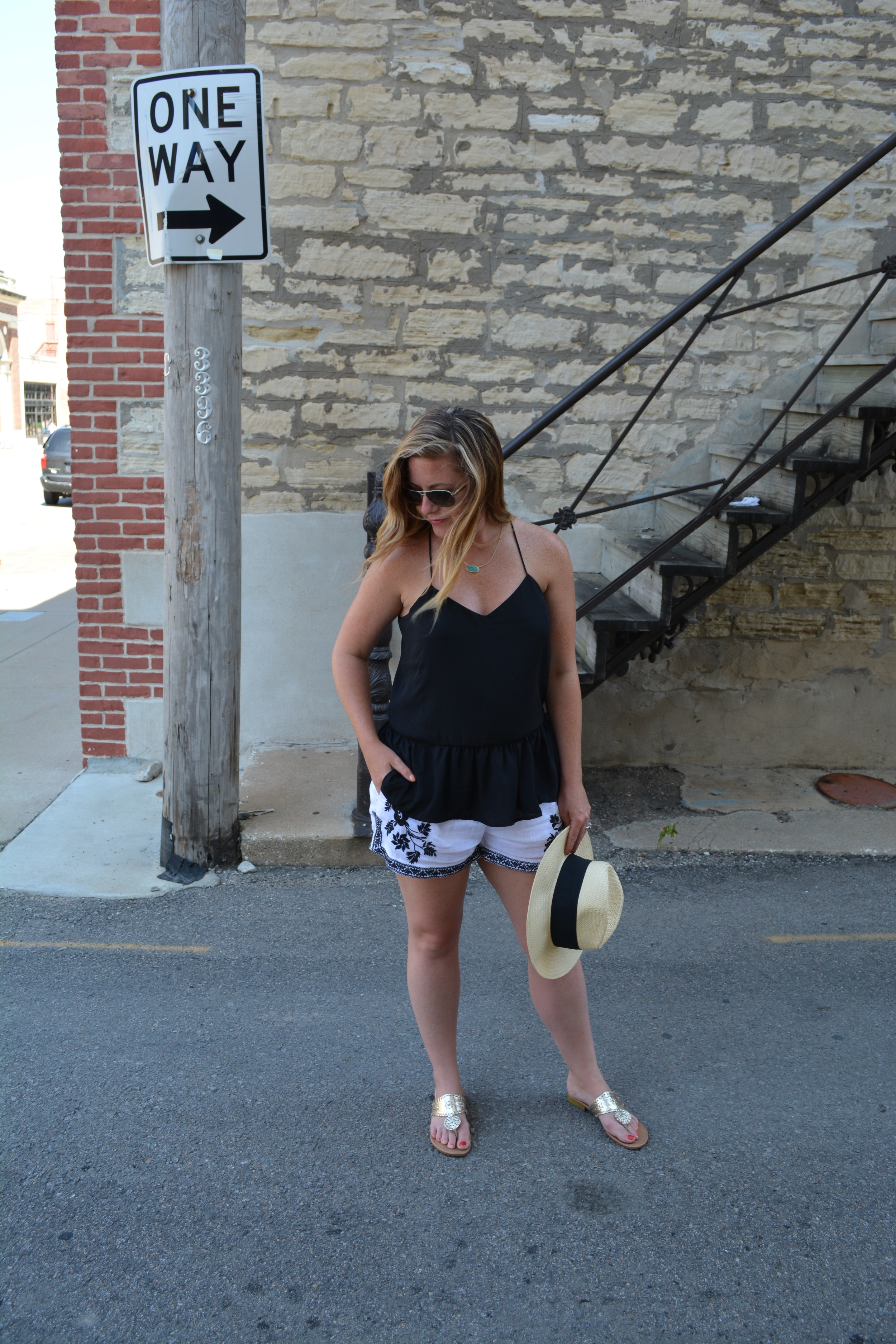 Black tank with embroidered short on Sophisticaited.com