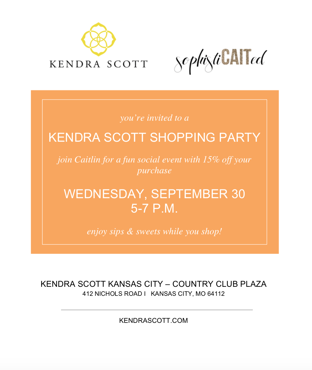 Kendra Scott event in Kansas City with Caitlin Fore from Sophisticaited