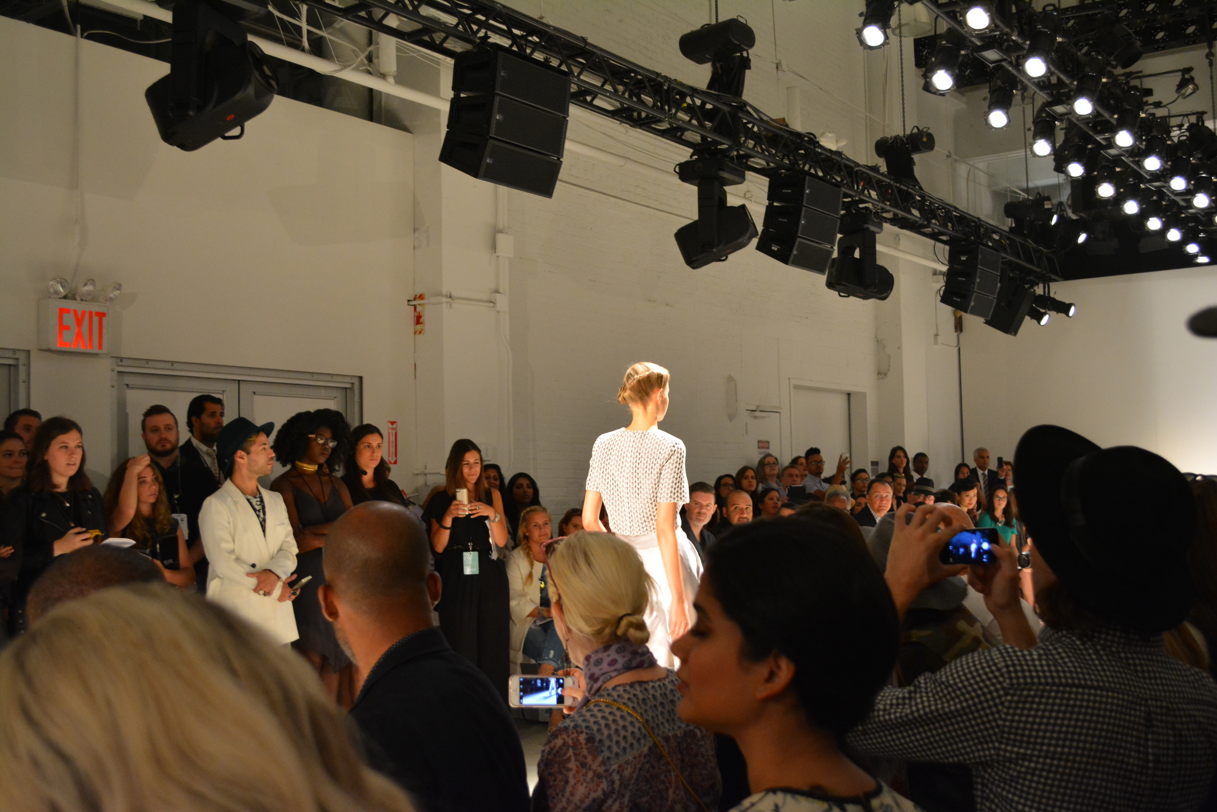 My view from the Bibhu Mohapatra show.