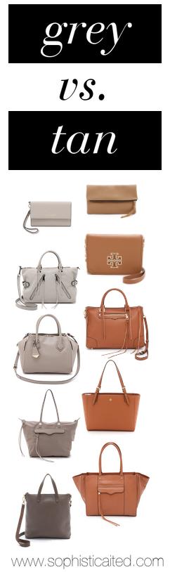 grey vs. tan bags on sophistiCAITed