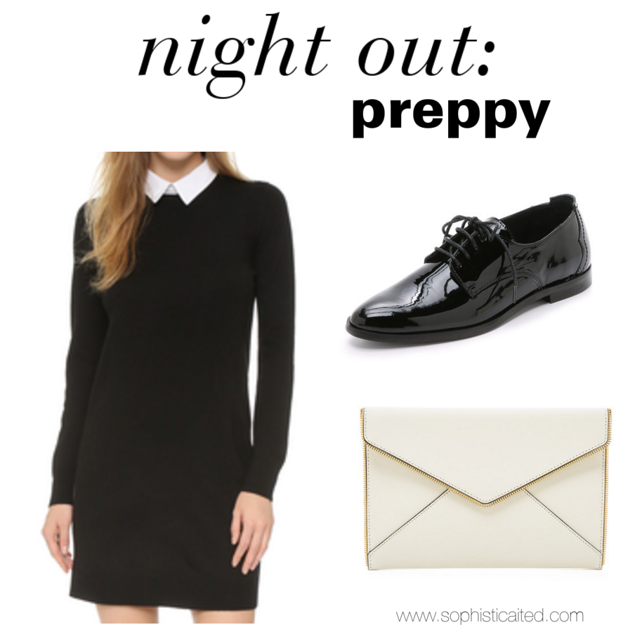 Preppy night out look
