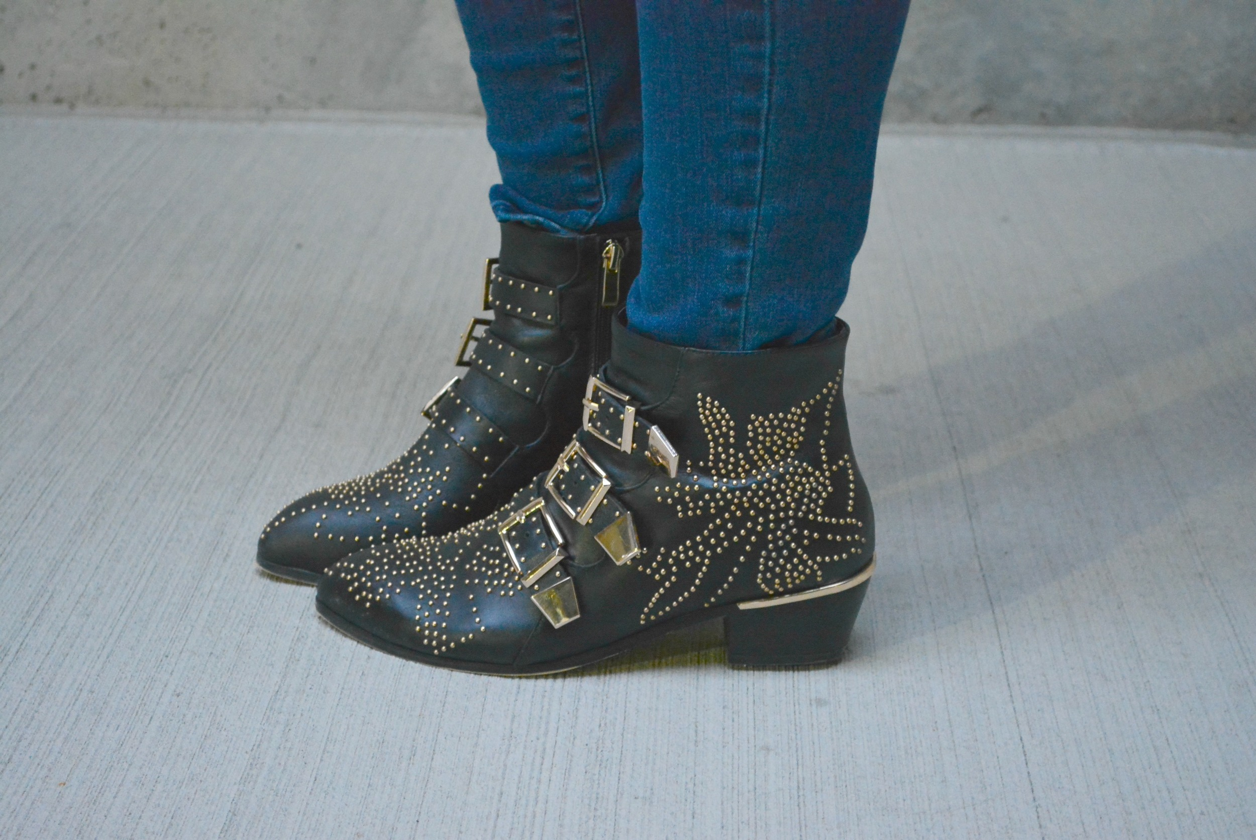 Black Chloe-ish booties