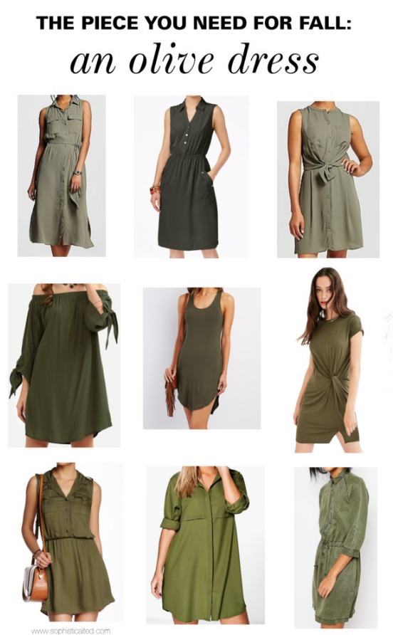The best olive dresses for fall