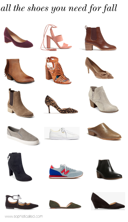 All the shoes you need for fall
