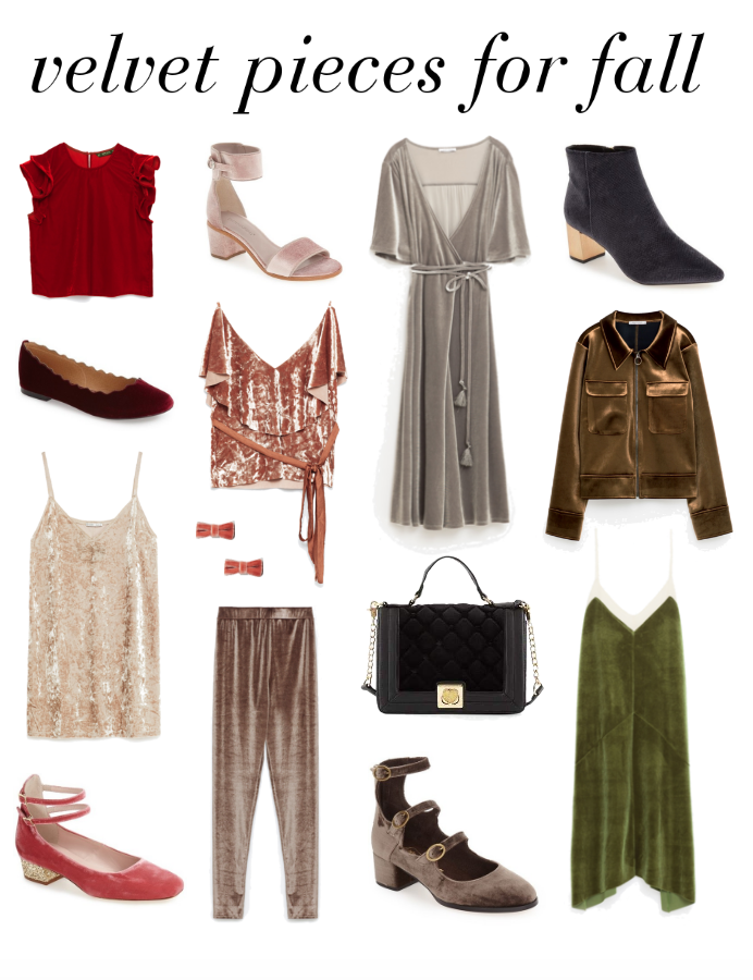 The perfect velvet pieces for fall