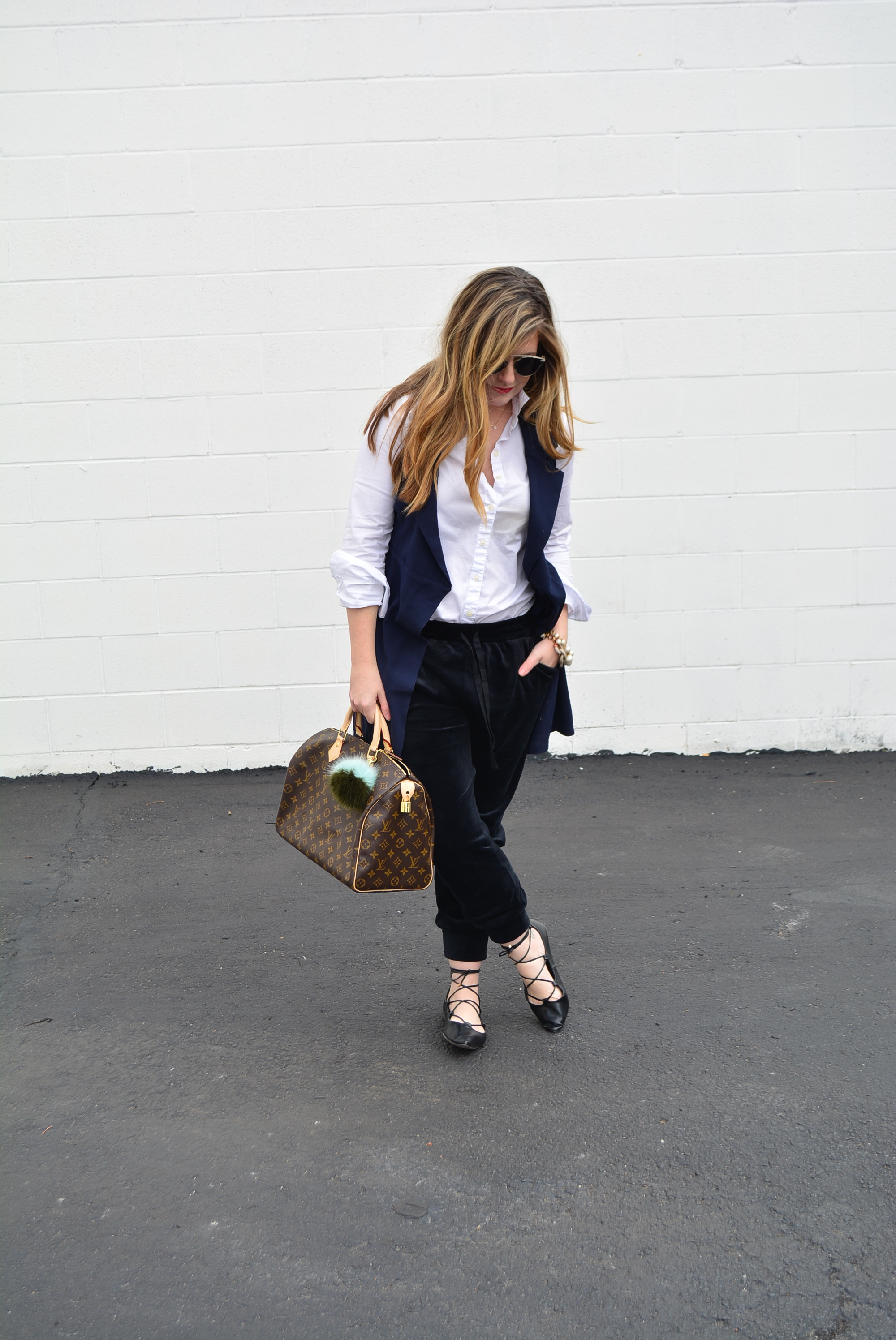 Dressy jogger outfit