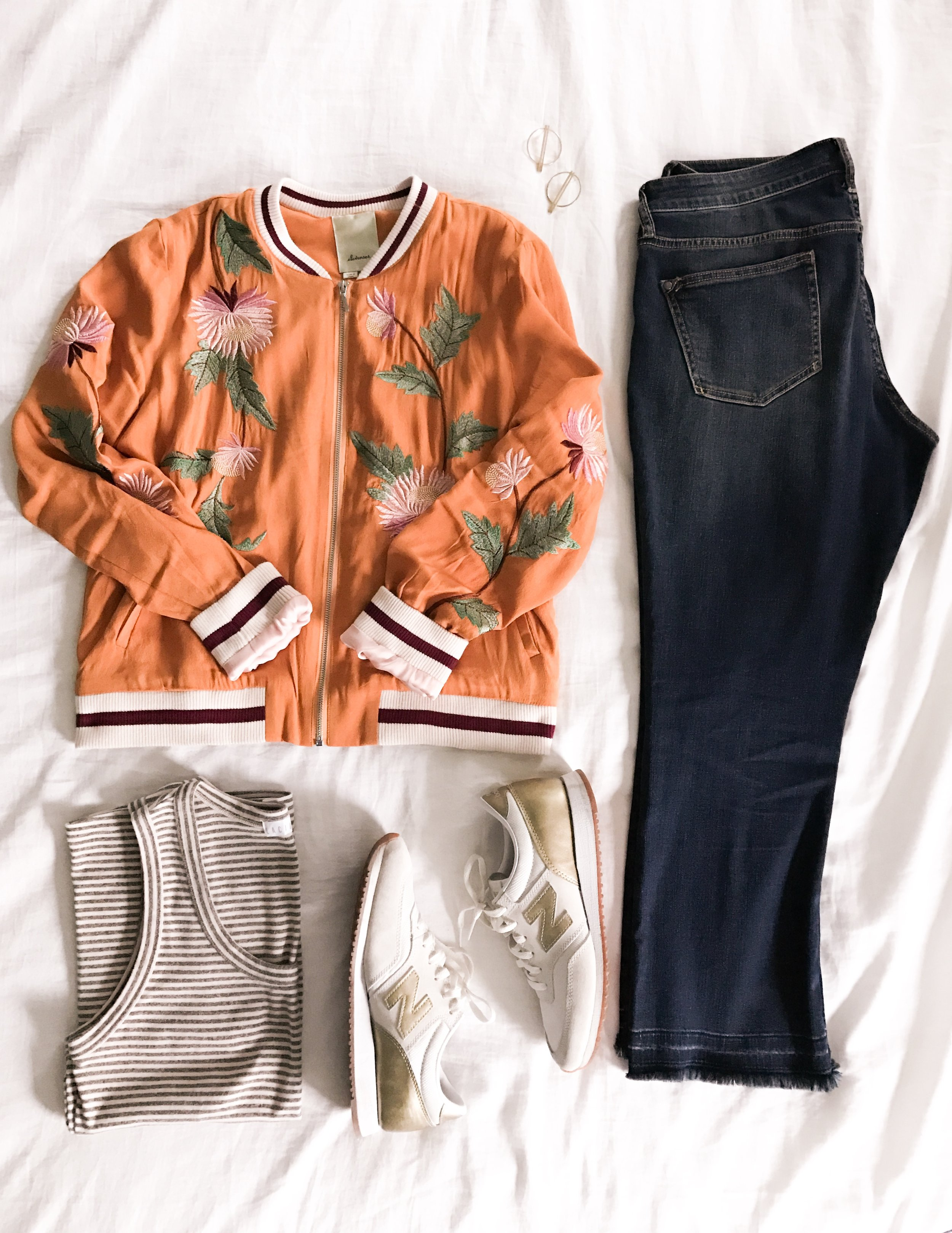 Flat lay of a casual look
