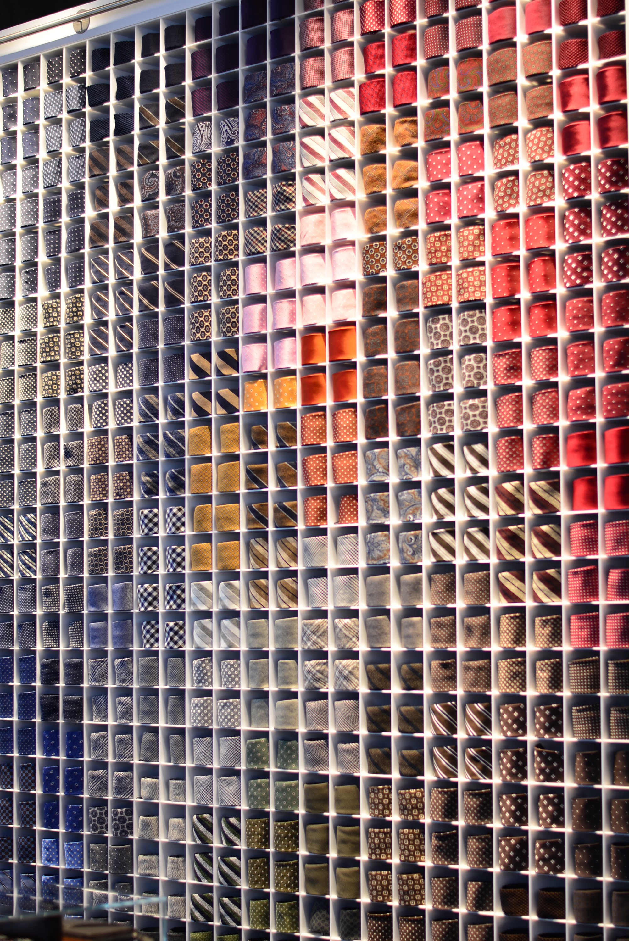 Tie wall at SuitSupply