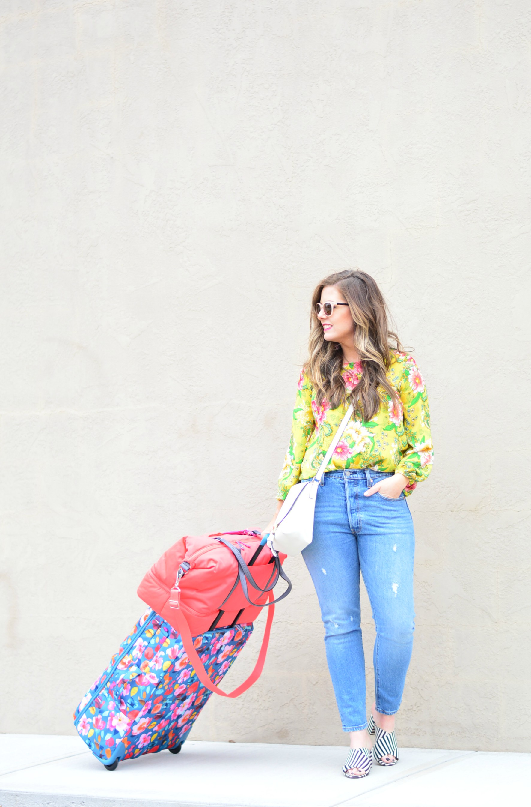 Vera Bradley luggage and what to pack for Spring Break