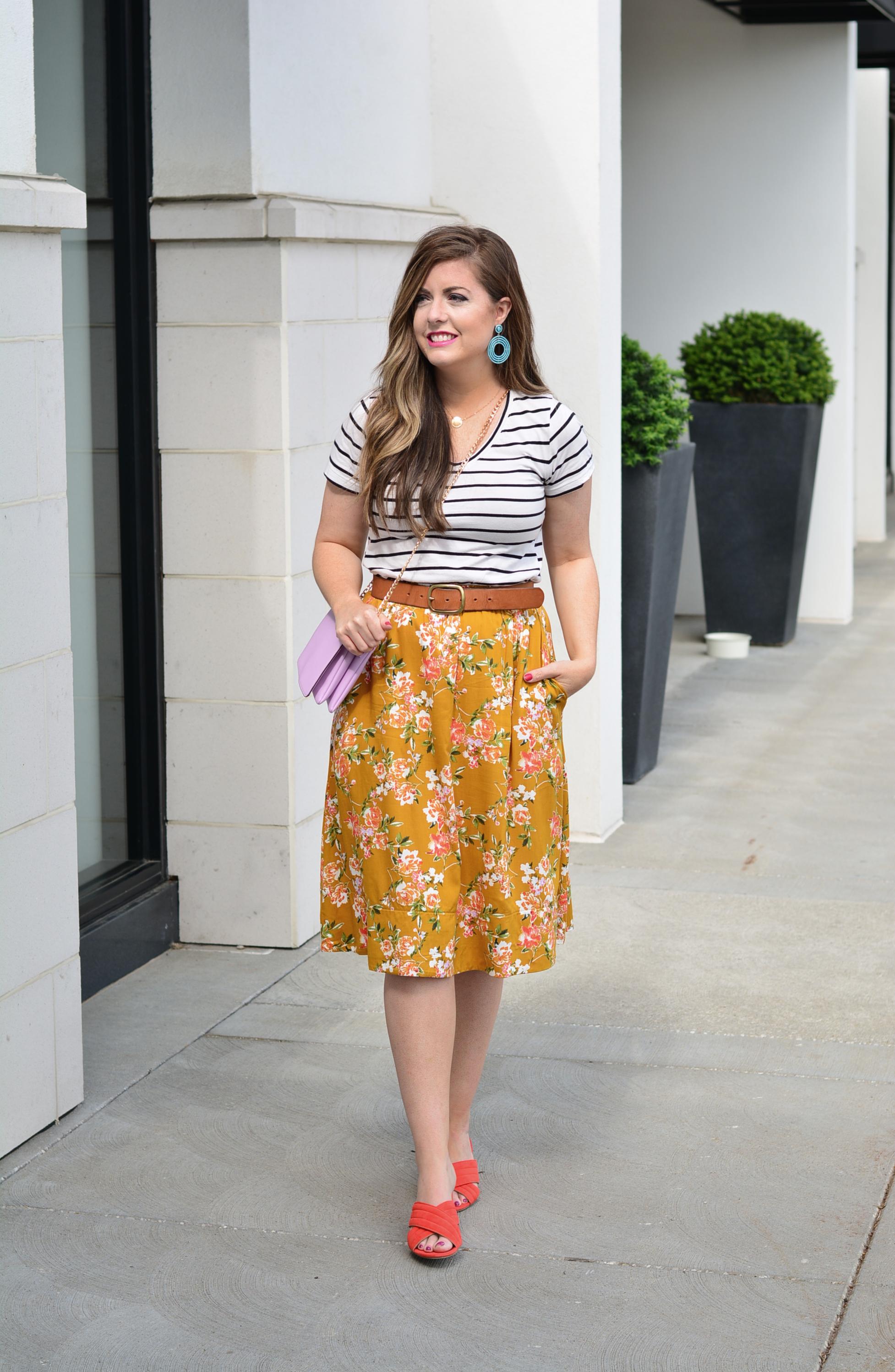 Floral skirt for summer