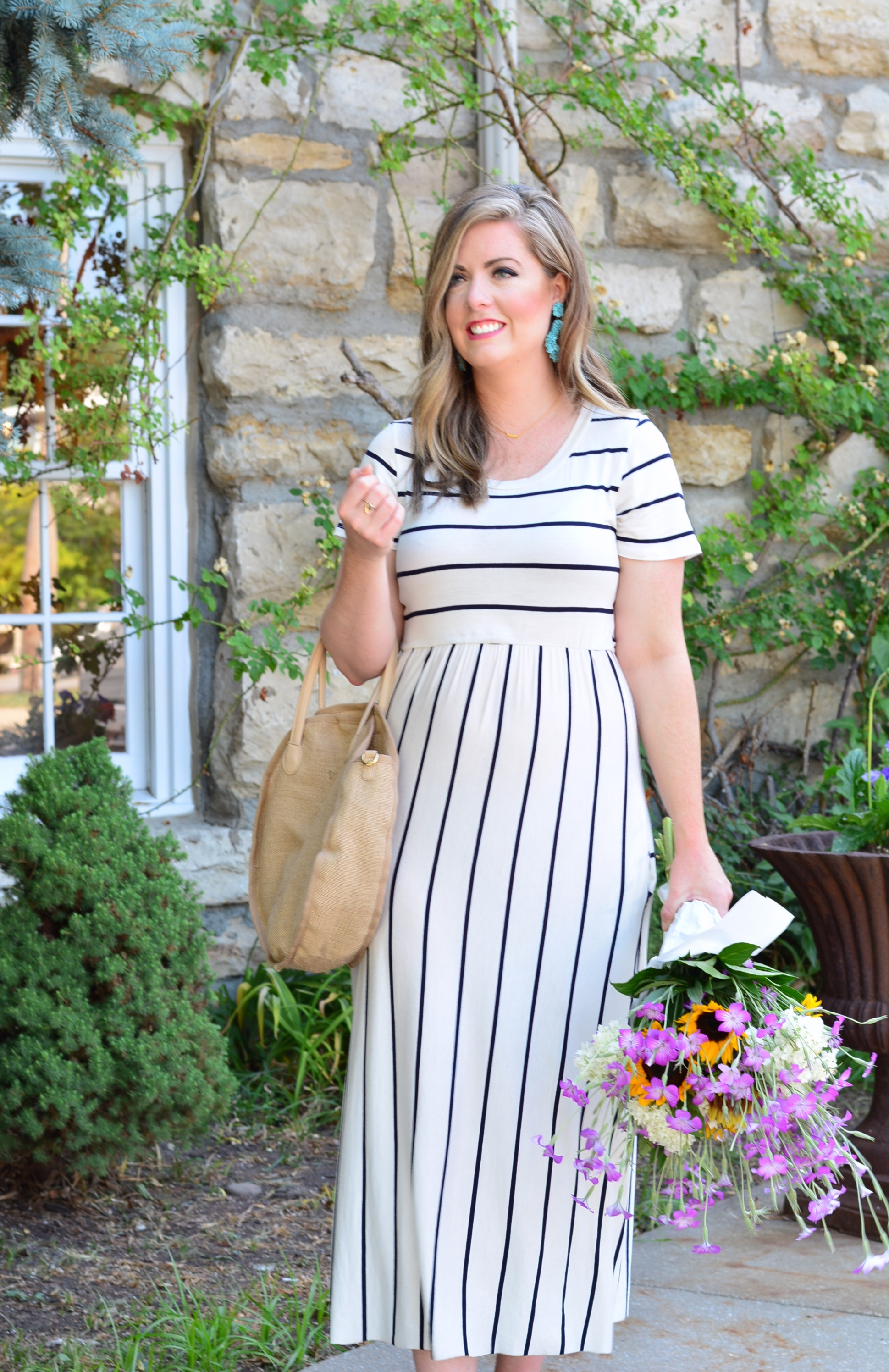 Stripe midi dress | Summer Fashion