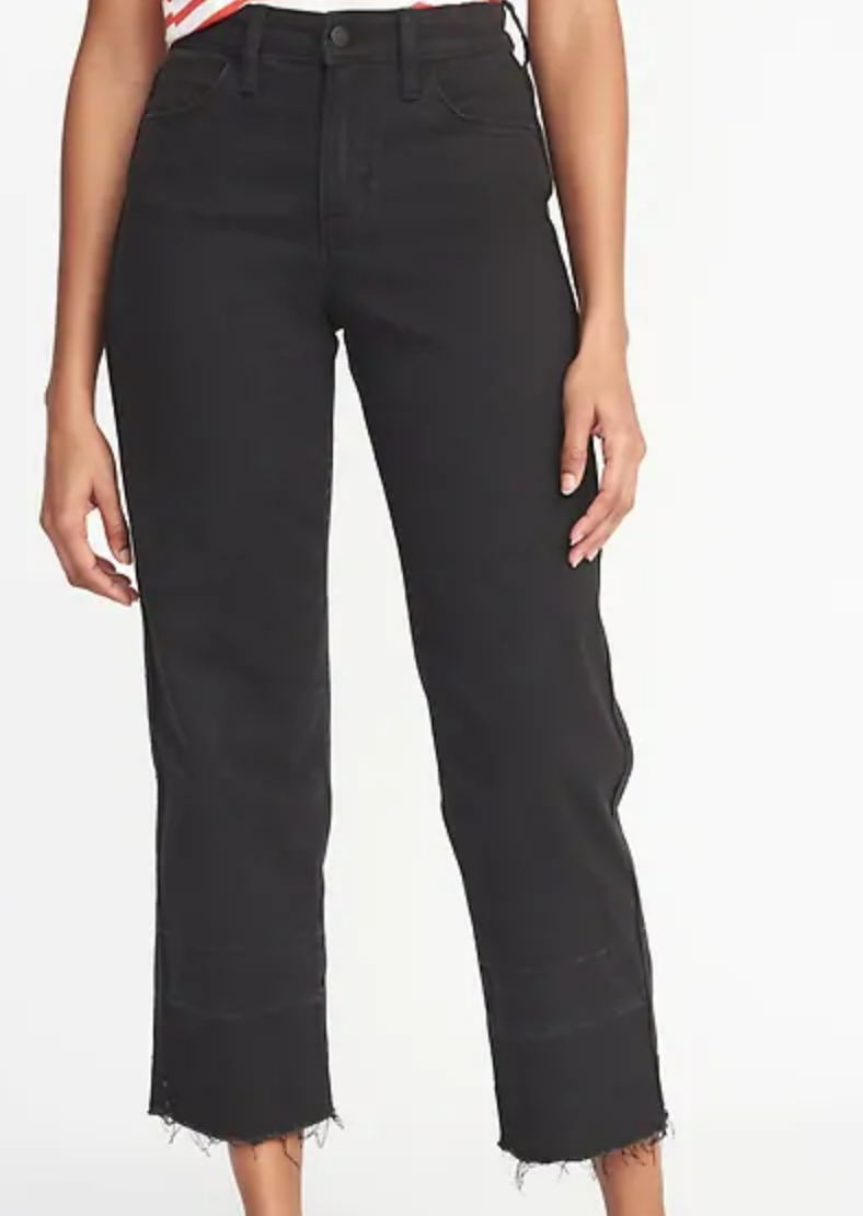 High waited black wide leg jeans