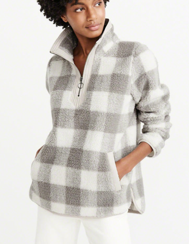 Abercrombie plaid sweatshirt