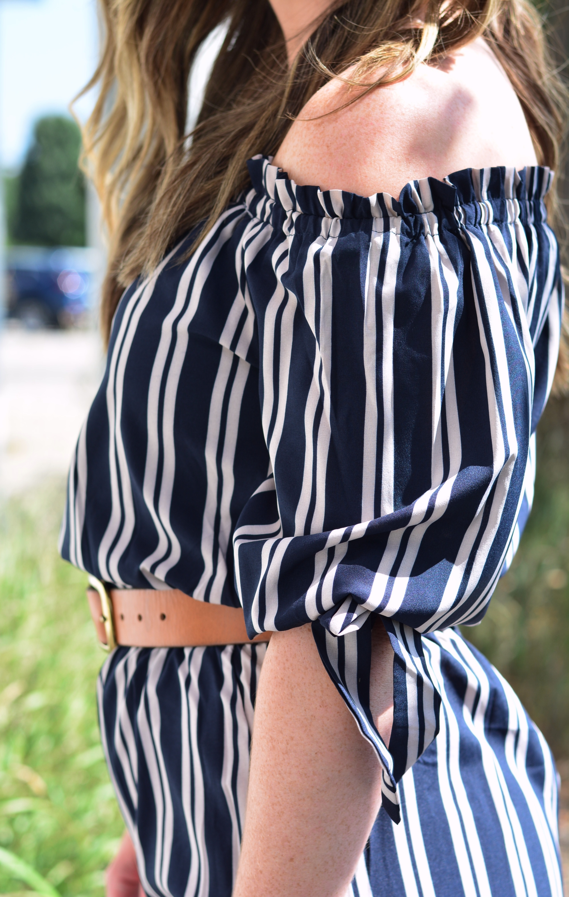 Stripe jumpsuit | Fall Fashion | Sophisticaited | Cait Fore