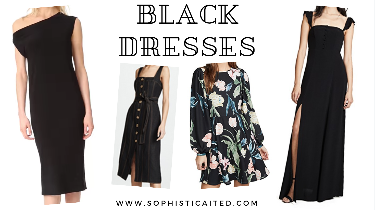 Updated Black Dresses | Sophisticaited | Cait Fore