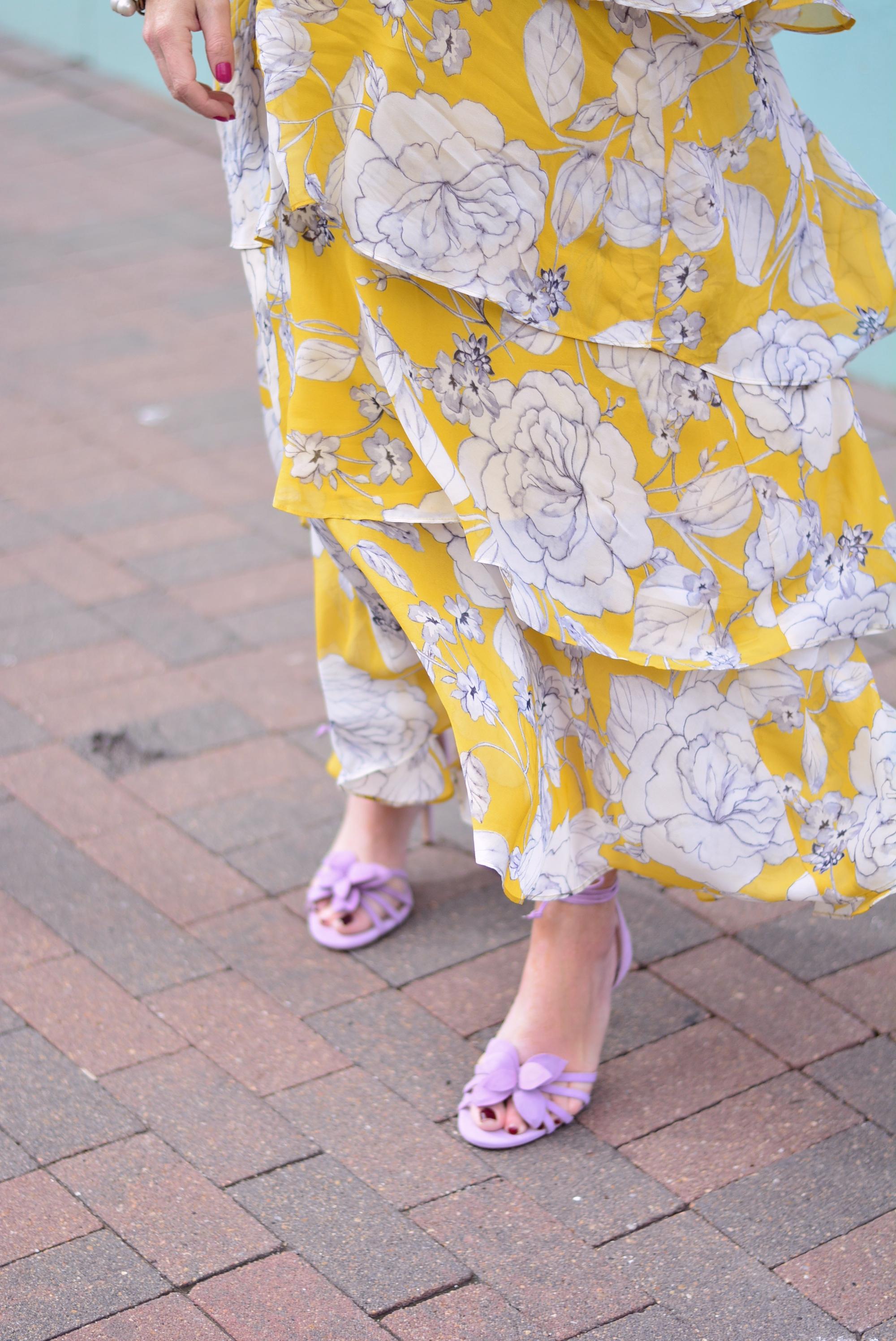 Lillie Flower Suede Heeled Sandals | Sophisticaited