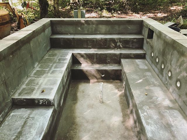 The hot tub is coming along... pretty excited about this! I've never built one of these before.