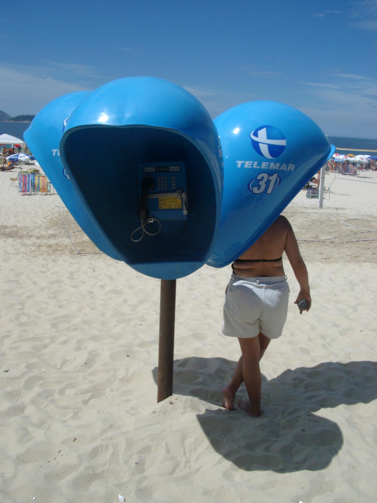 Woman at Beach Phone, Brazil.JPG