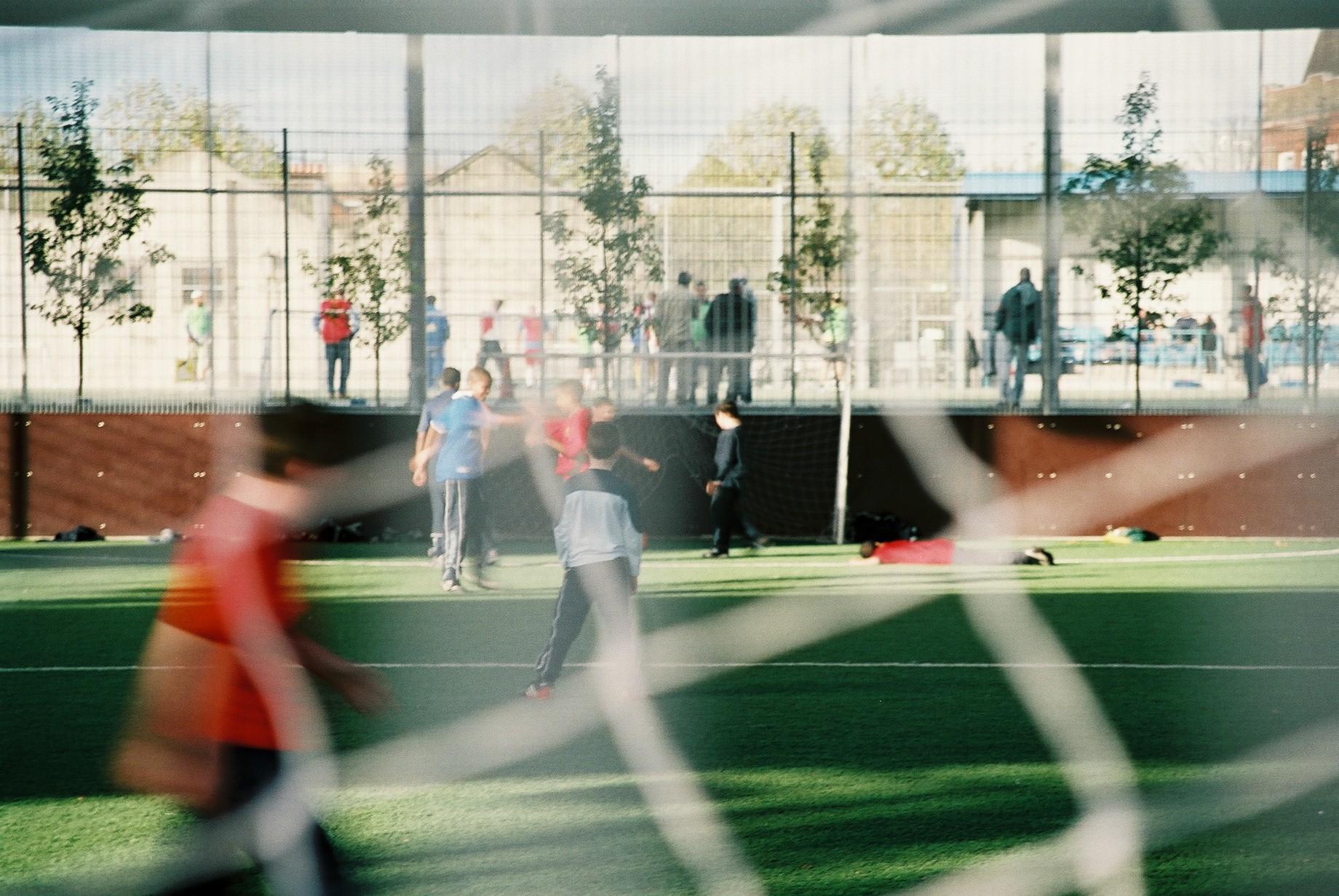 Football under the Westway, London.JPG