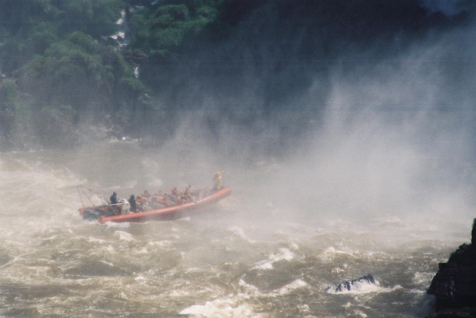 Tourist boat, Iguazu.JPG