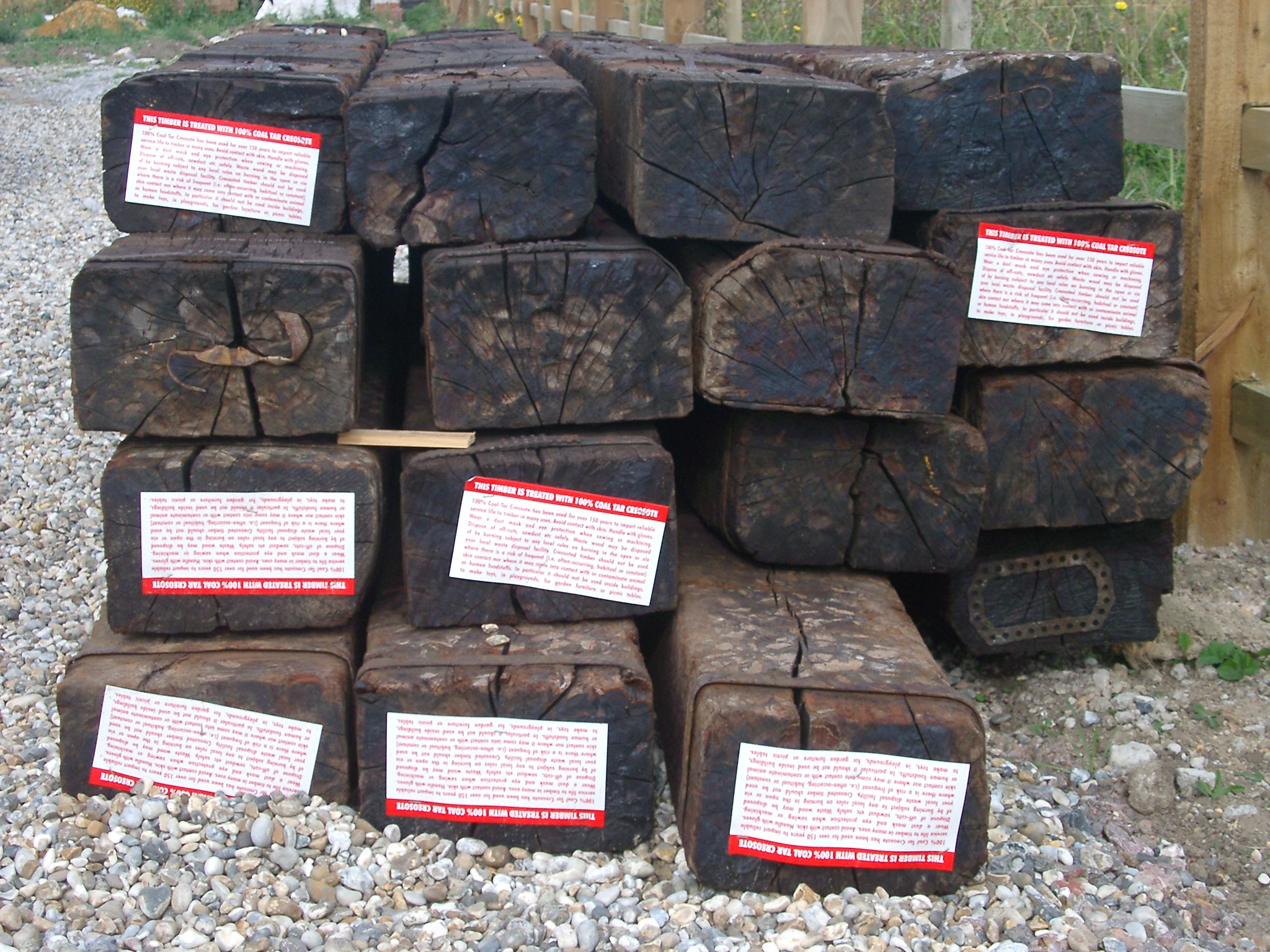 Railway Sleepers, Camber Sands.JPG