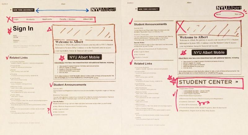 NYU Student Portal Redesign — SONI HAHN