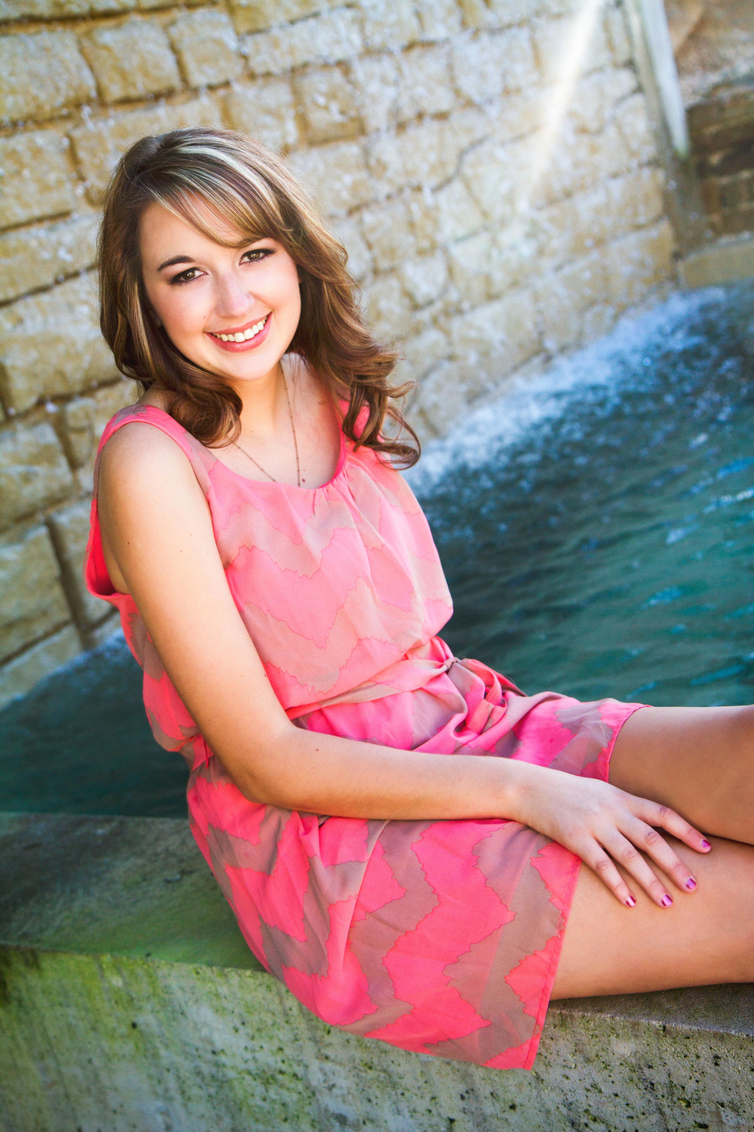 senior photos with water springfield mo