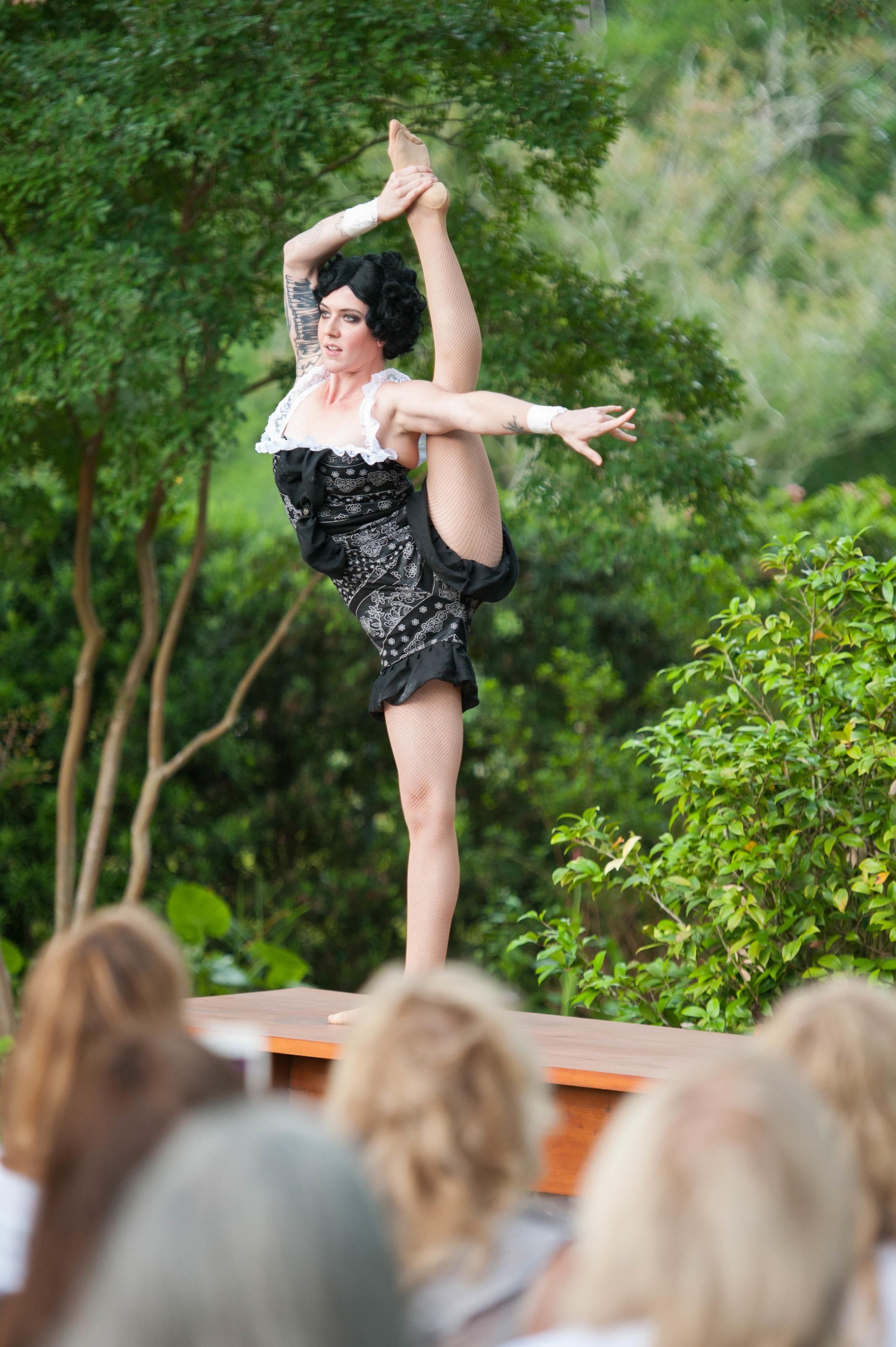Burlesque dancer: Annie Sloan Unfolded by Adrienne Battistella