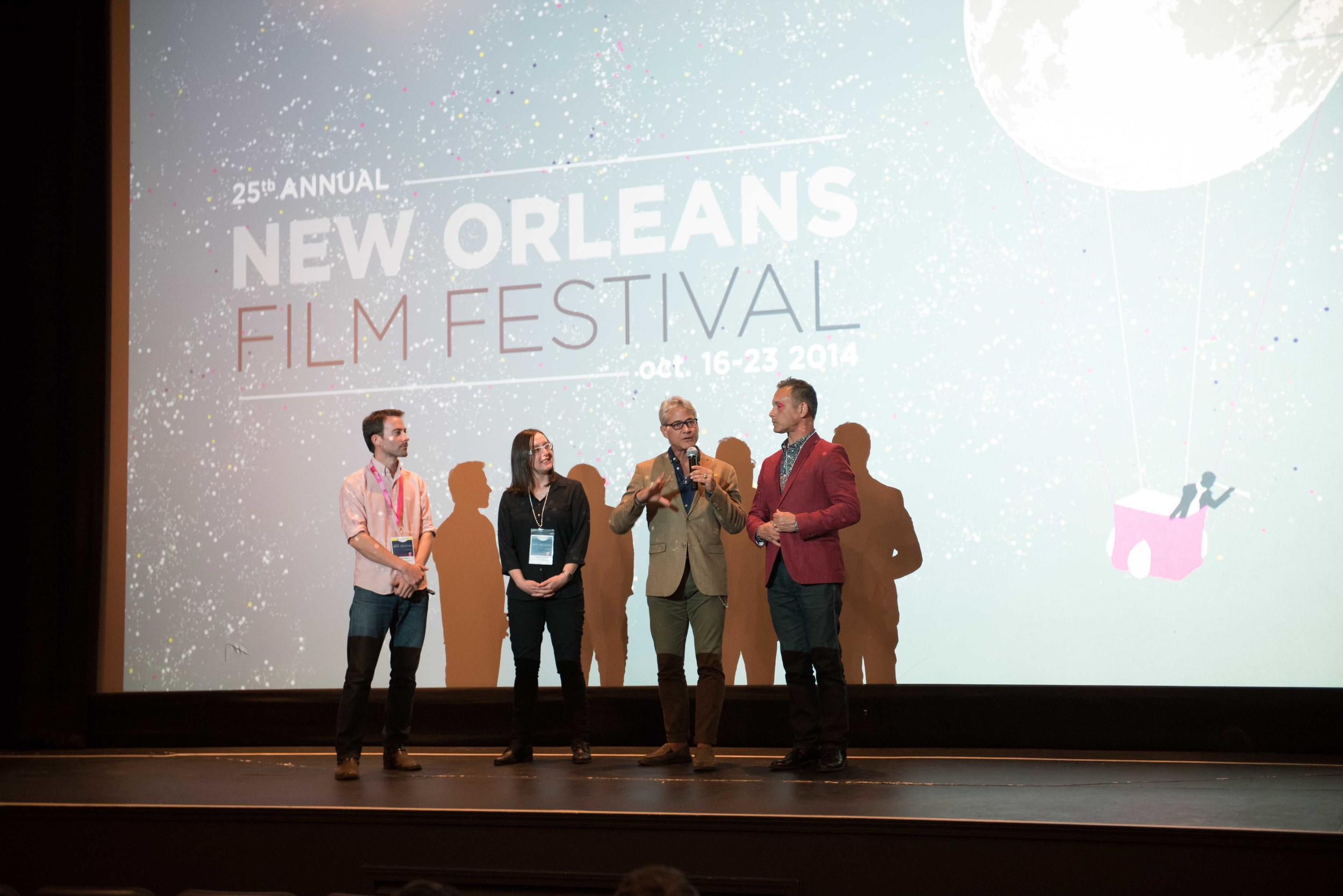 NEW ORLEANS, LA - October 24, 2014: New Orleans Film Society Film presents the premiere of Back on Board during the 2014 New Orleans Film Fest at the Prytania Theater in New Orleans, Louisiana (photo by Adrienne Battistella, 2014)
