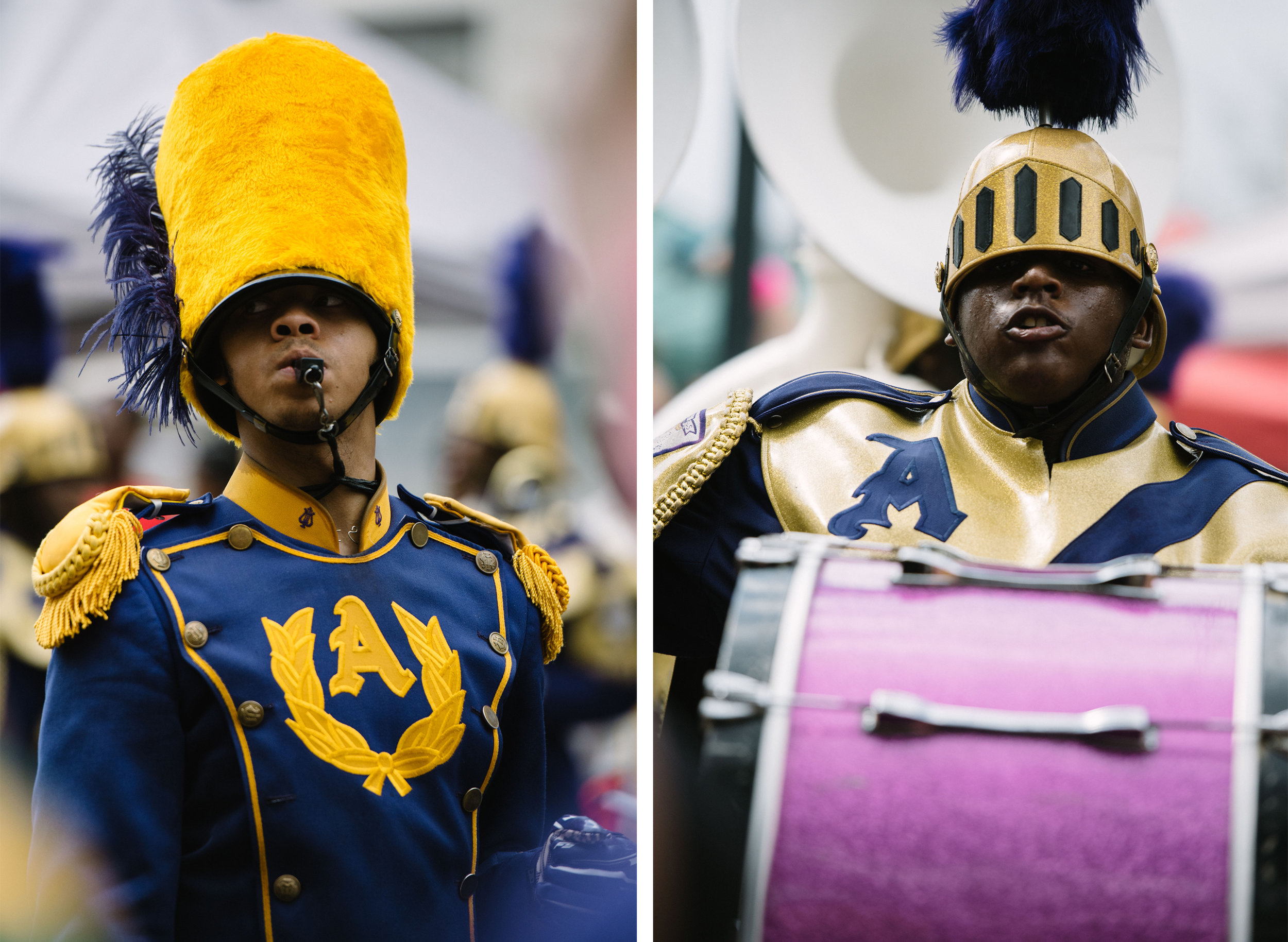 St. Aug Marching 100 during the REX parade 2017