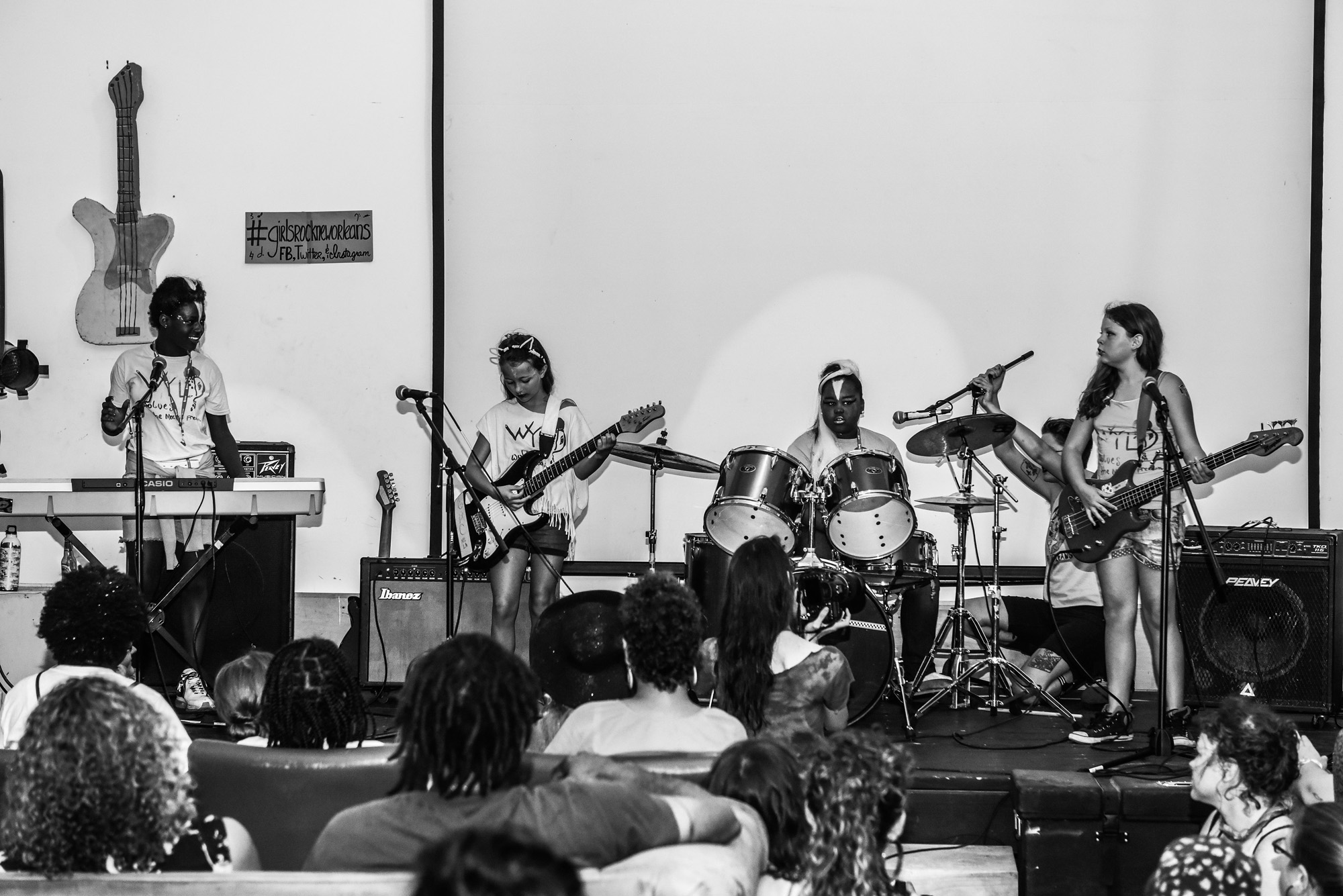 NEW ORLEANS, LA - June 18, 2015: Girls Rock! Camp in New Orleans (photo by Adrienne Battistella, 2015. All Rights Reserved.)